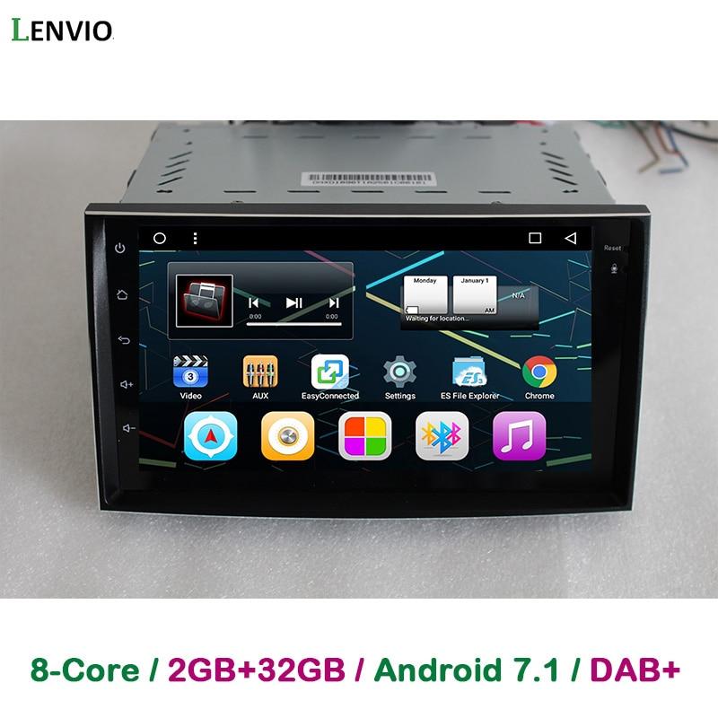 Lenvio 2 GB + 32 GB de RAM Android 7.1 Navegação DO CARRO DVD GPS Para Hyundai Azera Grandeur 2005 2006 2007 2008 2009 2010 Estéreo Rádio DAB