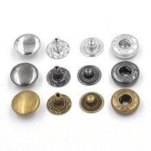 50 juegos por botón pack10mm. Remache. Combinación de hebilla metálica. Ropa y accesorios. Reparación, costura. Botones de Metal. De Metal