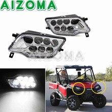 Chrome noir OEM phare LED paire Chrome phare avant pour Honda Pioneer 1000 SXS10M3 SXS1000M3 SXS10M5 SXS1000M5 2016