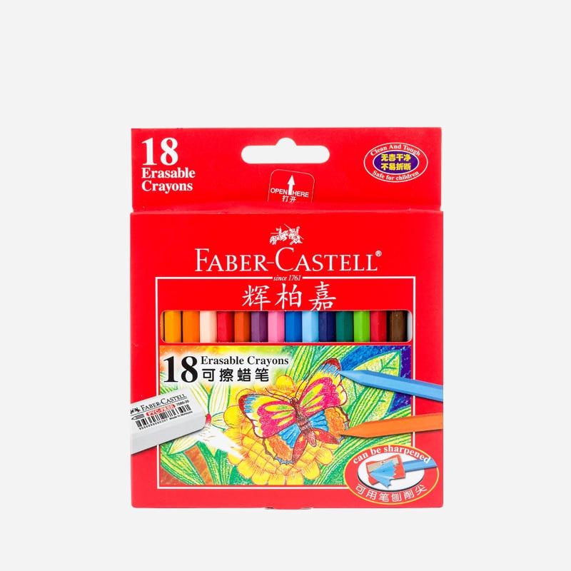 Faber-casdell rubs, triángulo sólido oleoso, 12/18/24 colores para estudiantes de escuela, suministros de Arte de oficina, crayones de diseño de dibujo