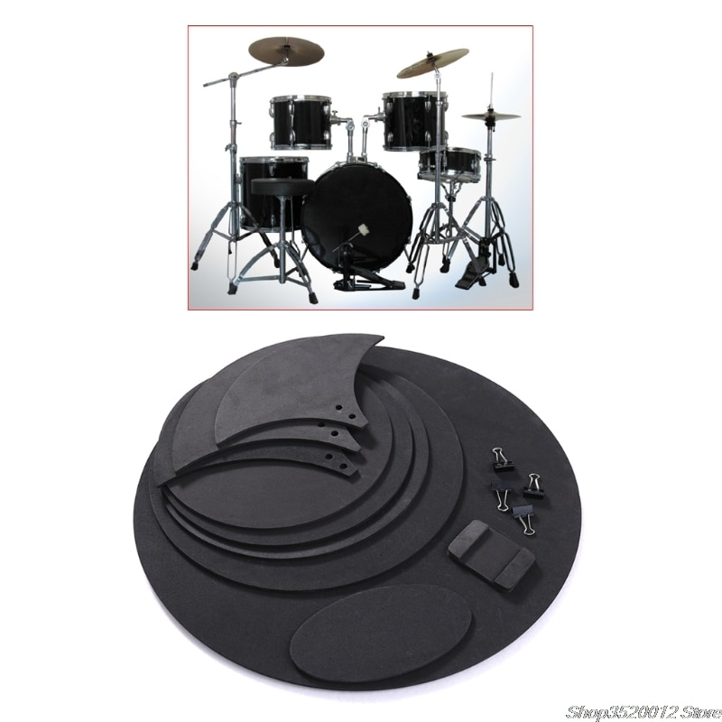 10pcs Bass Snare Drum Sound Off Mute Silencer Drumming Rubber Practice Pad Set Professional Dropshipping 10pcs bass snare drum sound off mute silencer drumming rubber practice pad set professional dropshipping