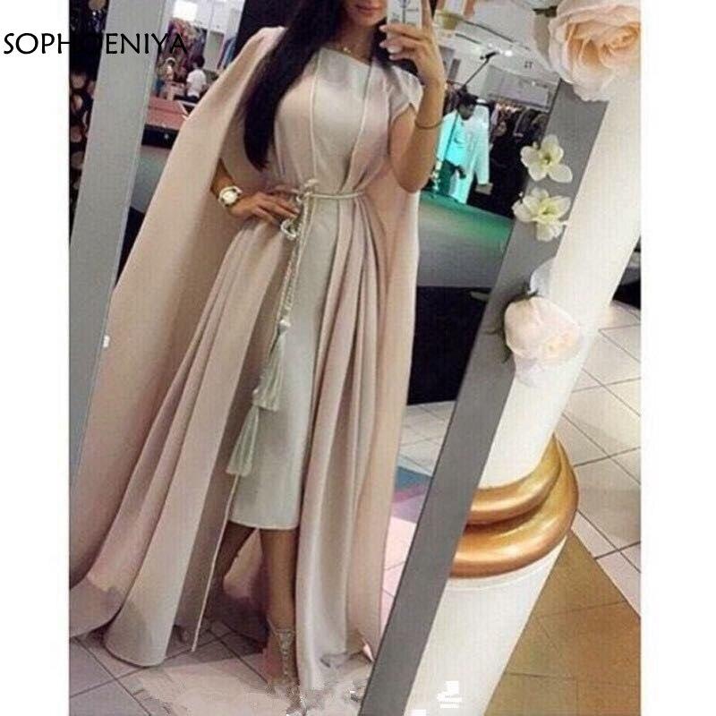 New Arrival Chiffon Dubai Kaftan long dresses evening 2020 Vintage evening gowns abendkleider evening gown muslim evening dress