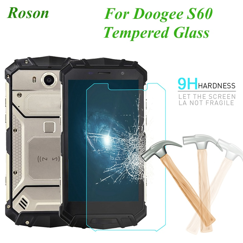 Roson for Doogee S60 Tempered Steel Film Front Glass Protective Replacemant For Doogee S60 Screen Pr