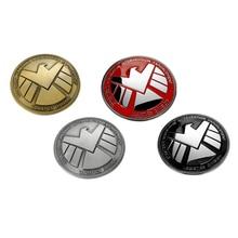 3D Хром Металл Мстители S. H. I. E. L. D. Декоративные наклейки для автомобиля, полностью металлические наклейки для хвоста автомобиля, эмблема, Аксессуары для стайлинга автомобиля
