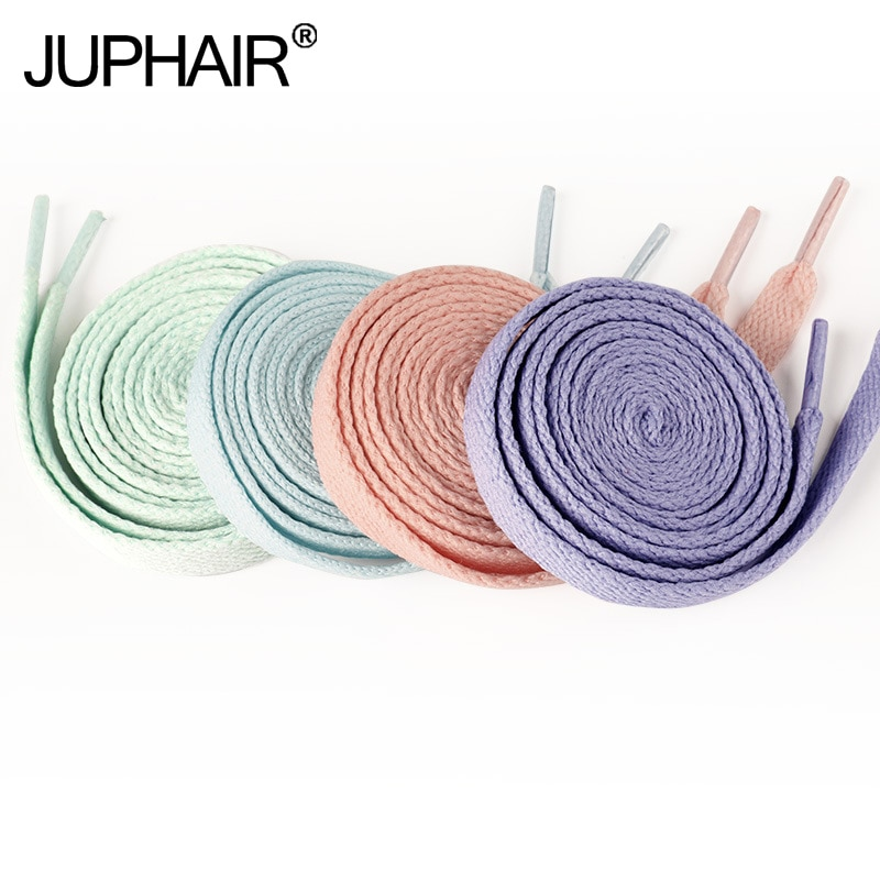 New 1 Pair Flat Canvas Shoe Laces Top Quality Casual Chromatic Colorful Shoelace Gradient Shoelaces Colored Arc-In-Gradient