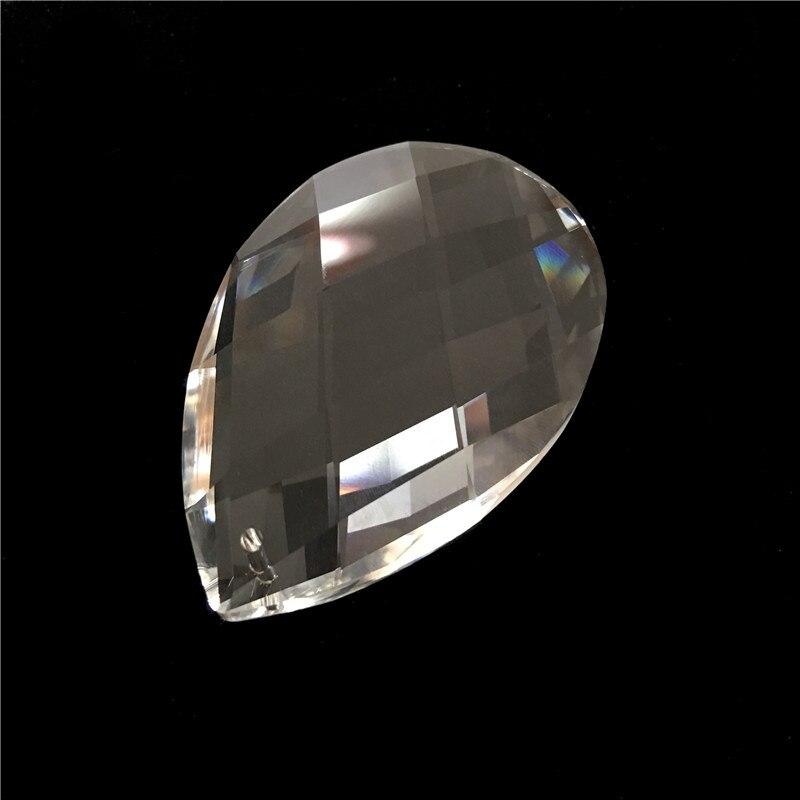 Gran tamaño 89mm candelabro de cristal transparente lámpara al por menor colgantes de rejilla para araña piezas para lámpara de vidrio en venta