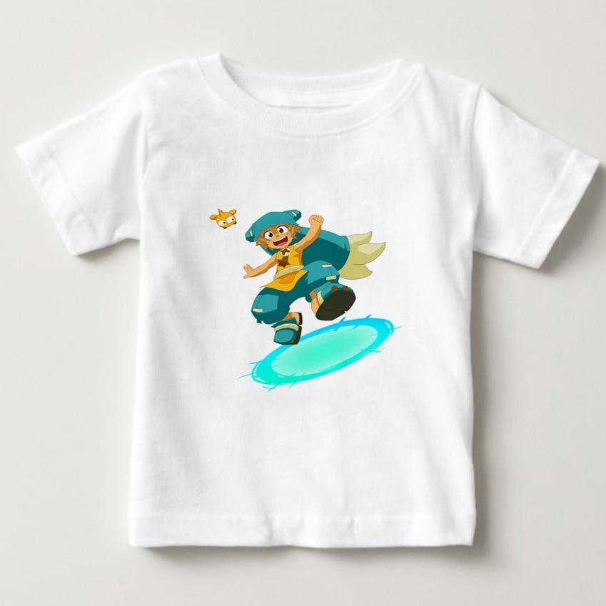 2020 Fashion Game Wakfu Print T shirt kids Short Sleeve O-neck Boy T-shirt Funny Girl Summer T Shirts children cartoon tee  NN недорого