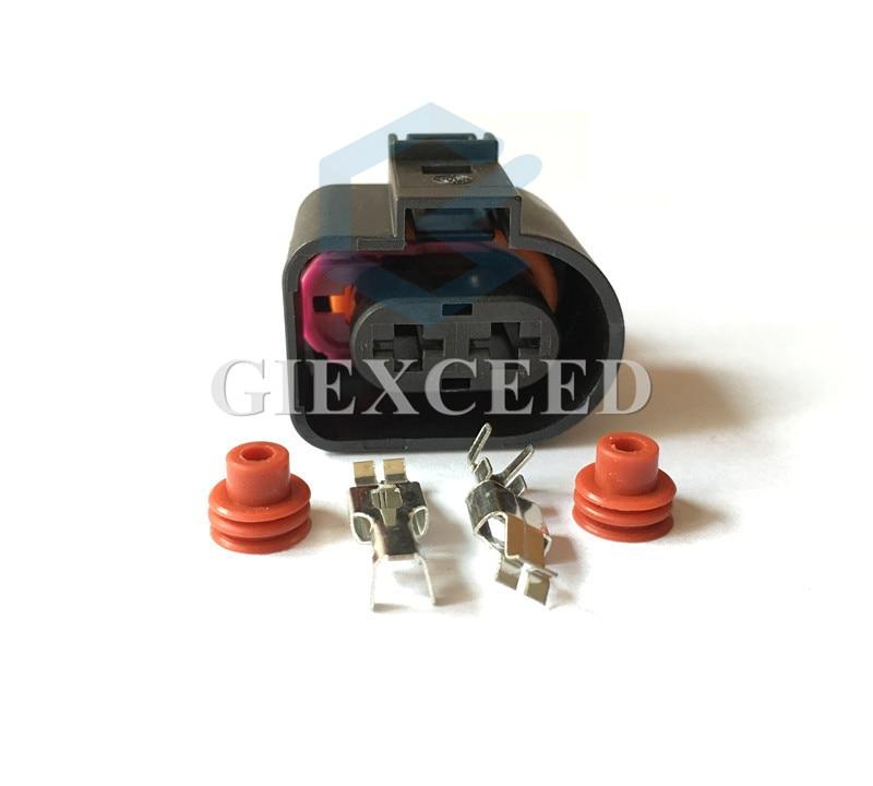 2 juegos de 2 conectores de inyección de combustible automotriz 1JO 973 752 / 1J0973752 para VW Toyota Honda Hyundai Elantra