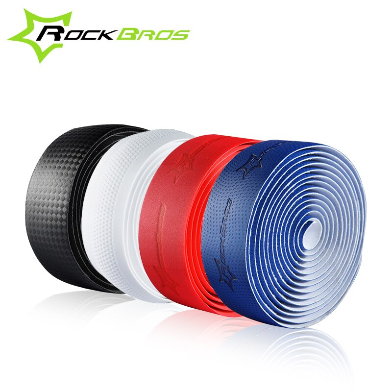 RockBros Professional Road Cycling Handlebar Tape 4 Patterns Anti-slip Anti-sweat S.R.EVA Road Bike Bicycle Handlebar Tape Wrap