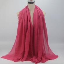 #40 Chiffon Hijab Premium Viscose Maxi Crinkle Cloud Hijab Scarf Shawl Soft Islam Muslim Szaliki I Chusty Winter Scarf Echarpe