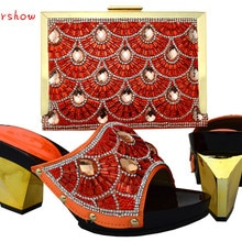 doershow New Arrival Fashion Italian Shoes With Matching Bags Set High Quality Shoes And Bags Set Fo
