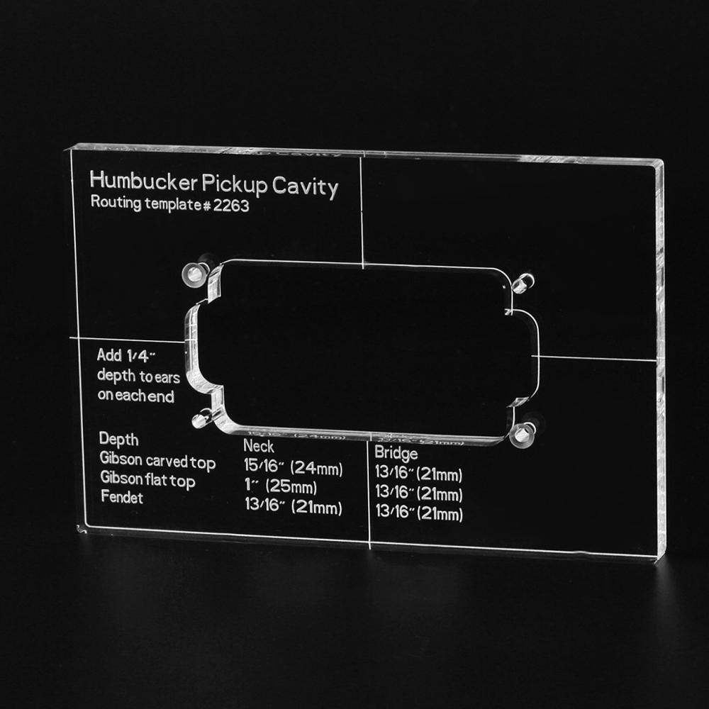 Musiclily Pro CNC точный акриловый Humbucker Пикап шаблон маршрутизации для корпуса электрогитары