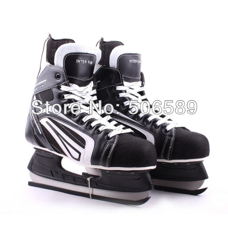 free shipping hockey skates black color 507