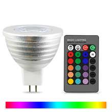 Волшебная светодиодная RGB лампа M16 цветов, 12 В постоянного тока, праздничный Точечный светильник с памятью, 24 клавиши, ИК-пульт дистанционног...