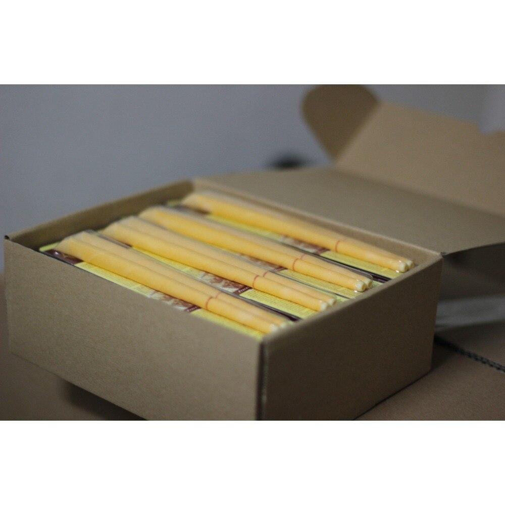 51 par/lote, vela de oído de manzanilla natural trompeta beewax con disco protector, sin humo ardiente + aprobación CE, Envío Gratis