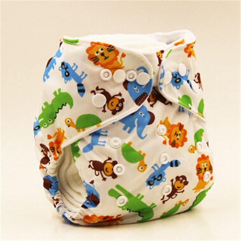 Nuevo pañal cubierta Del Pañal Del Bebé de bambú velvetón ajustable, pañal Lavable de marca para bebé, pañales reutilizables con estampado Animal para bebé