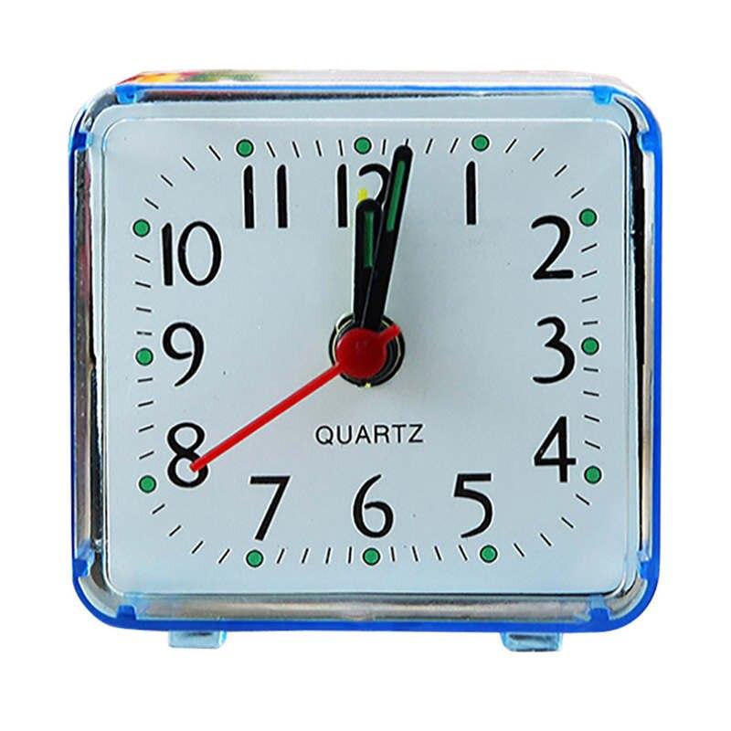 Aimecor квадратная маленькая кровать компактный дорожный кварцевый звуковой сигнал часы Мода Кролик прикроватная лампа зеленые батареи музыкальный комплект будильник 19feb1
