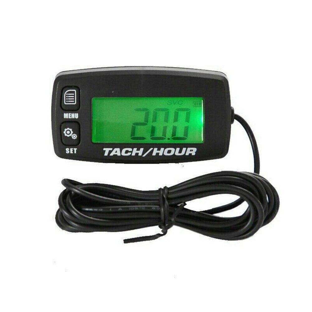 Tacômetro digital backlit à prova dwaterproof água digital tach medidor de hora tacômetro para 2/4 motores acidente vascular cerebral alta qualidade