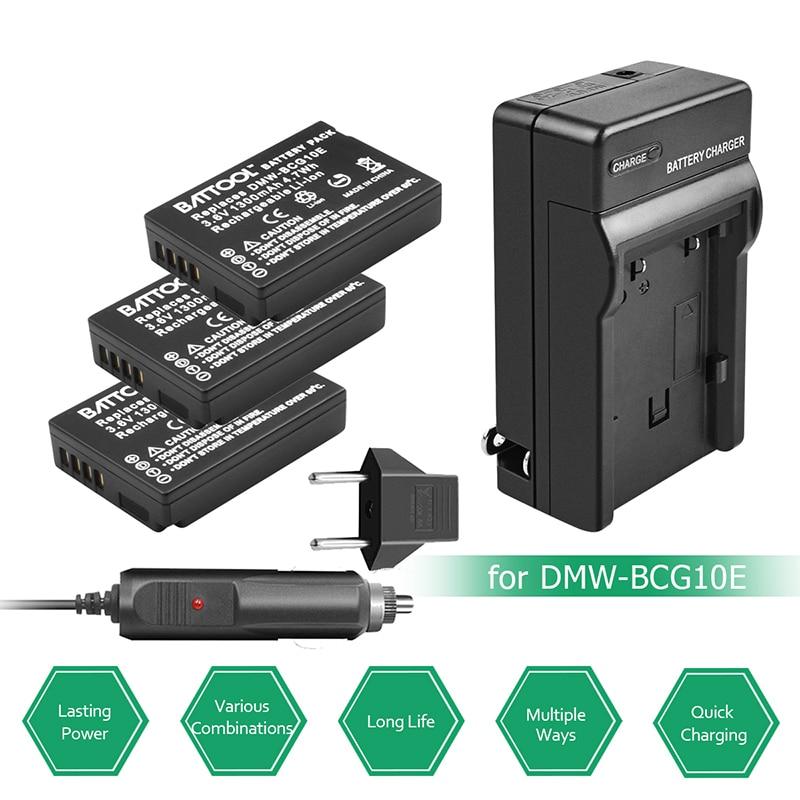 3.6V 1300mAh Battery + Charger + EU Plug for DMW-BCG10 DMW BCG10 BCG10E DMC-3D1DMC-TZ7 DMC-TZ8 DMC-TZ10 DMC-TZ18 DMCTZ19