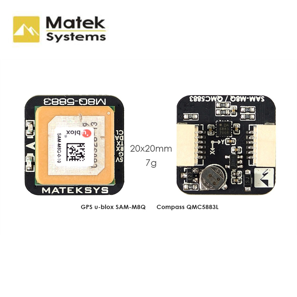 New Matek Systems M8Q-5883 72 Channel Ublox SAM-M8Q GPS & QMC5883L With Compass Module For RC FPV Racing Drone