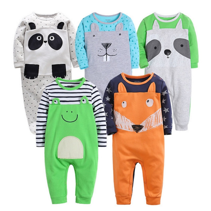 Newborn 6-24M baby boys spring baby Rompers soft Baby girls romper Cotton Baby Jumpsuit for kids boys Costumes