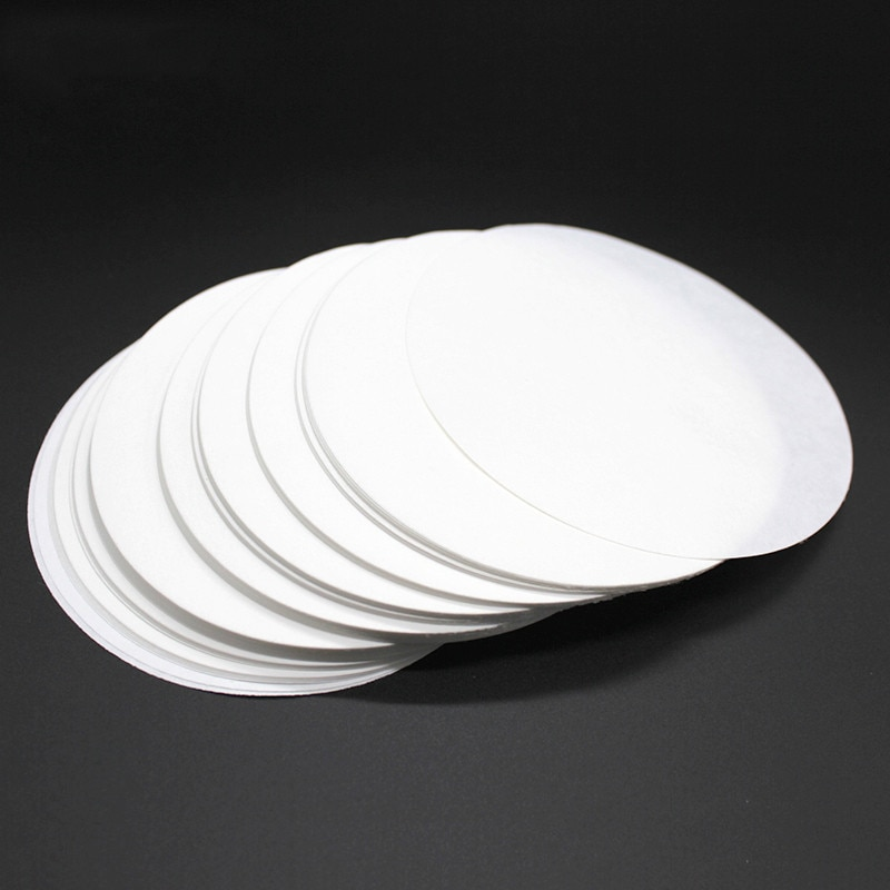 100PCS/bag 7cm Laboratory Filter Paper Circular Qualitative Filter Paper Medium Speed Funnel Filter Paper
