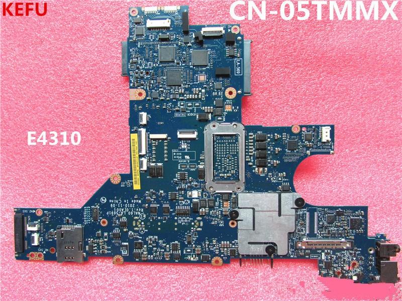 KEFU CN-05TMMX placa principal para Dell E4310 placa base de computadora portátil DDR3 LA-5691P probada completa