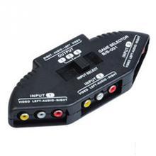 Séparateur de boîte de sélection de commutateur Audio vidéo AV 3 voies pratique de haute qualité