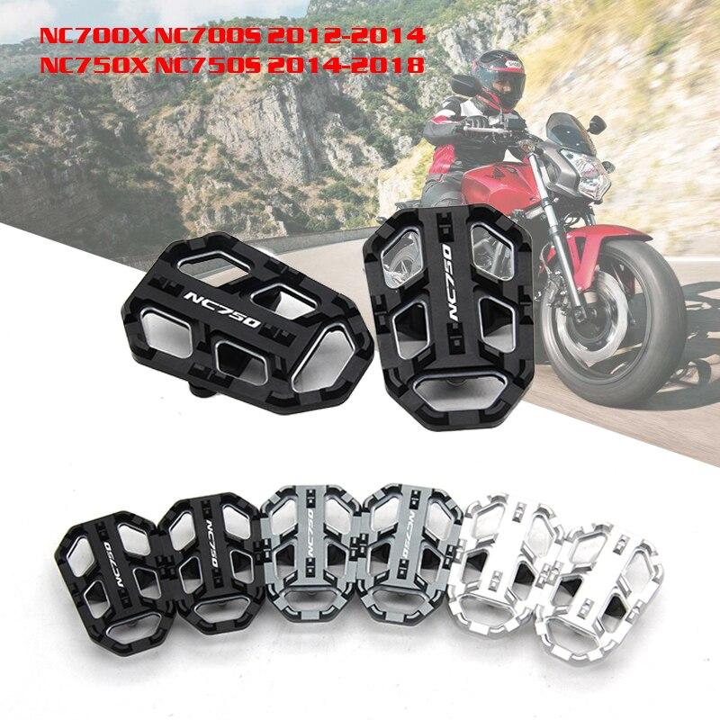 CNC Alumínio Moto Pé Pegs Footpegs Apoio Para Os Pés Para Honda NC700X NC750S NC750X NC700S 2012-2014 2014-2018