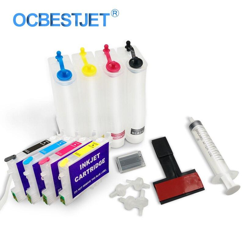 T0441 T0442 T0443 T0444 Continuous Ink Supply System Für Epson C64 C66 C84 C84N C84WN C86 CX3600 CX3650 CX4600 CX6400 CX6600