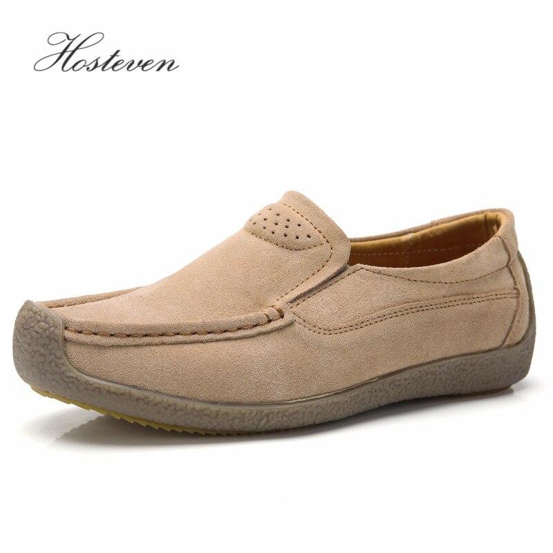 Zapatos de mujer Hosteven mocasines de cuero genuino mocasines zapatos de primavera otoño mujer Casual señoras de cuero