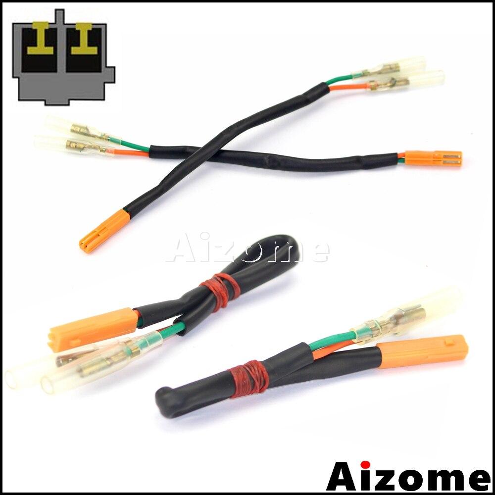 Adaptadores de señales de giro traseras para motocicleta conectores de arnés de cableado para Honda CBR600RR CBR1000RR CB650F CB500F CB500X CBR500R