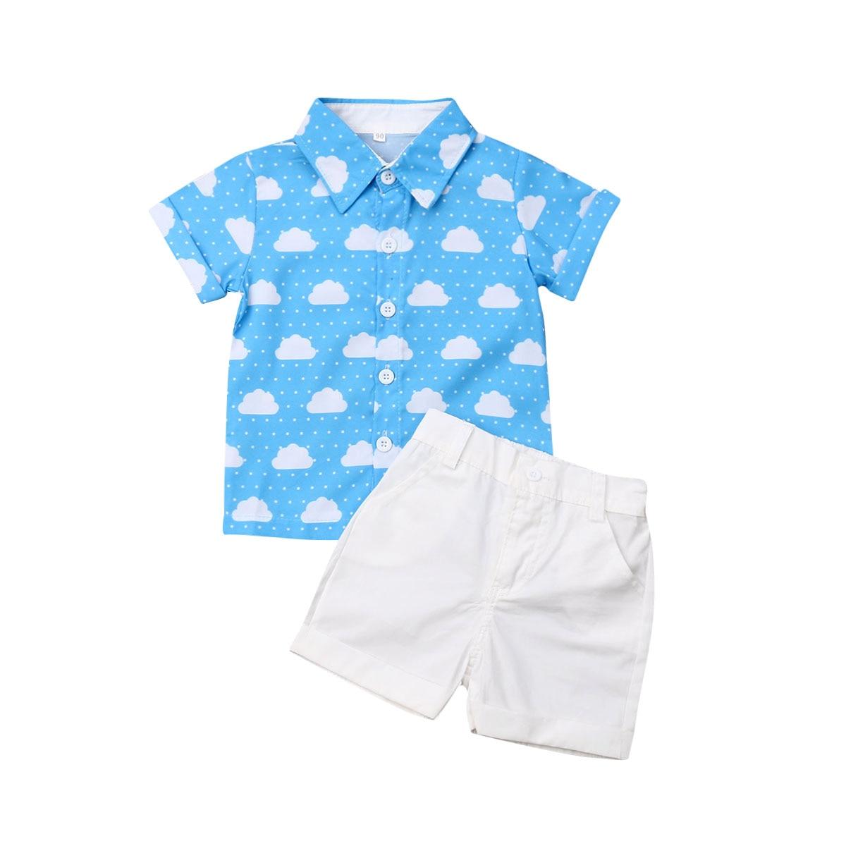 Citgeett Summer Newborn Baby Boy Girl Tops Romper Cloud Jumpsuit Pants shorts Outfits Clothes Gentle Set
