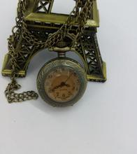 Nouveau Vintage Quartz brun foncé verre antique montres de poche collier femmes hommes cadeau 10 pcs/lot
