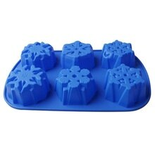 Blume Form Silikon Form 3D Weihnachten Schneeflocke Mond Kuchen Fondant Cupcake Form DIY Backen Gebäck Werkzeuge