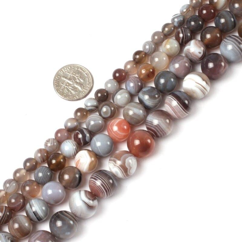 Pierre naturelle Botswana Sardonyx agate perles rondes en vrac 6 8 10 12 14MM 15