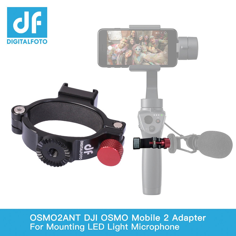 DF DIGITALFOTO Ant O-Ring Heißer/Kalt Schuh Adapter für DJI OSMO Mobile 2 Mobie 3 gimbal Montage mikrofon/LED Licht/Monitor