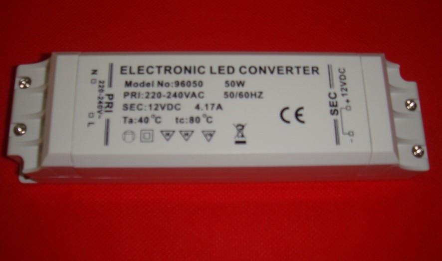 2021 NEW YAER DISCOUNT!! 50pcs/lot LED TRANSFORMER DRIVER  12V 50W 4.17A 220-240V Input power