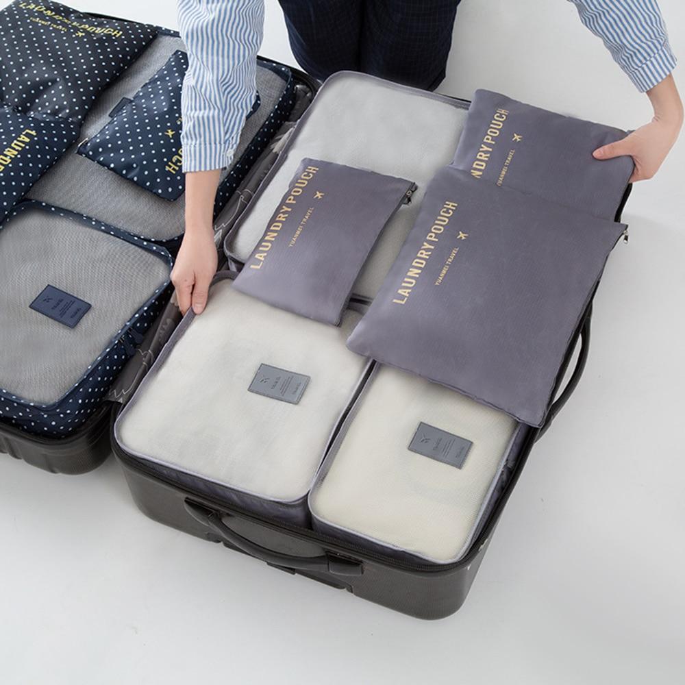 6 шт./компл. Водонепроницаемый комплект нижнего белья обувь гардероба большой Размеры Чемодан чехол дорожная сумка для хранения Организатор для одежды