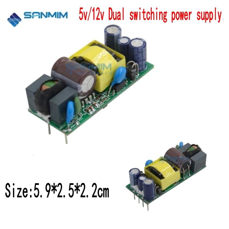 1 Uds. SANMIN AC220V a DC5V 12V 10W 1A 0.4A fuente de alimentación de conmutación Dual módulo aislado 220V a 12V 5V placa DLA10A-10W L1218
