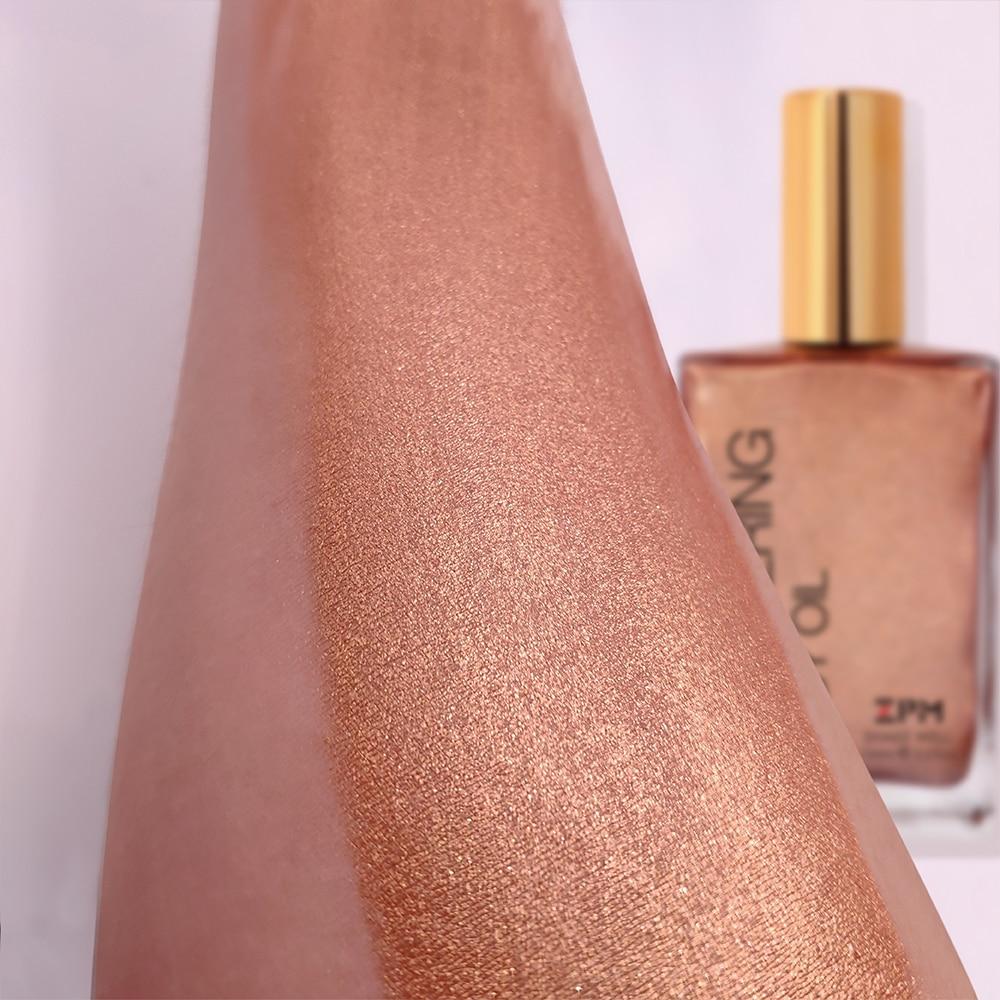 ZPM Bronzers & Highlighters Shimmer Body Oil Natural Taner Coconut Oil High Lighter Pen Oil Vitamin E Moisturizing Sun-kiss Oil