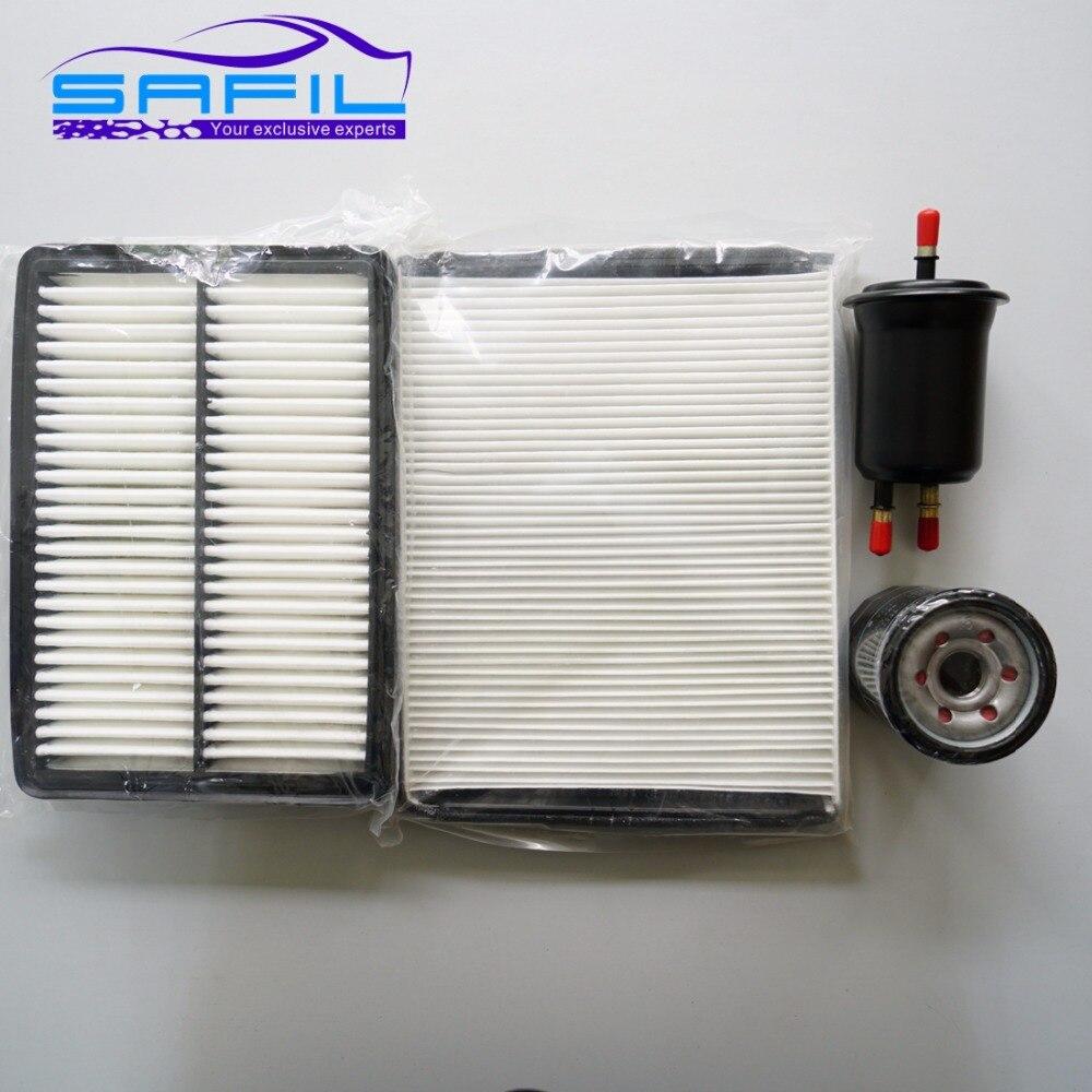 Воздушный фильтр + фильтр для салона воздуха + топливный + Масляный фильтр для использования для Brilliance H530