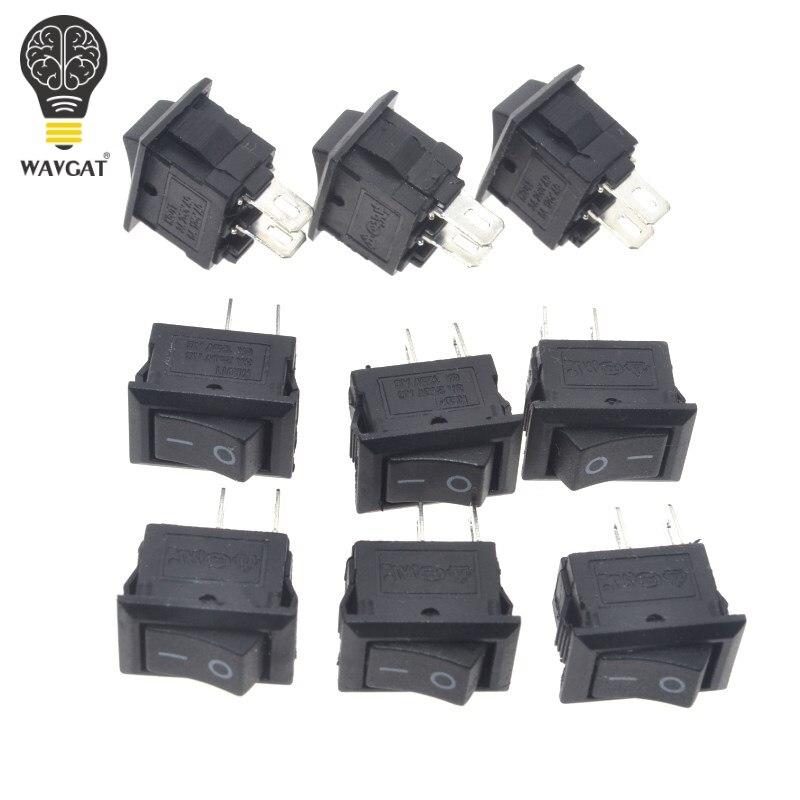 10 teile/los 10*15mm SPST 2PIN AUF/OFF G130 Boot Rocker Schalter 3A/250 V Auto dash Dashboard Lkw RV ATV Hause
