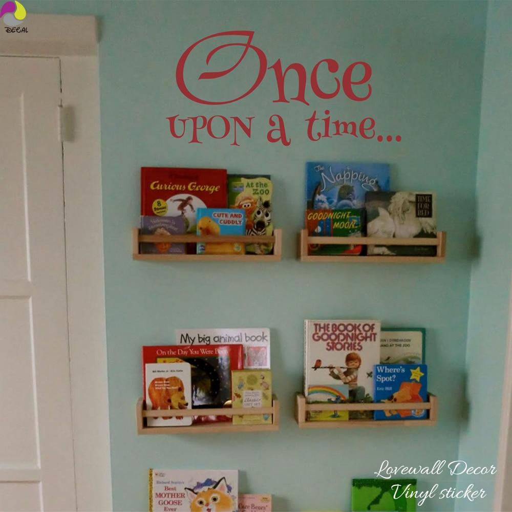 Виниловая настенная наклейка Once Upon a Time, для детской комнаты, для домашнего декора
