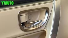 Décoration de porte intérieure de voiture   Autocollant de décoration de poignée pour toyota corolla 2014-2017, style de voiture