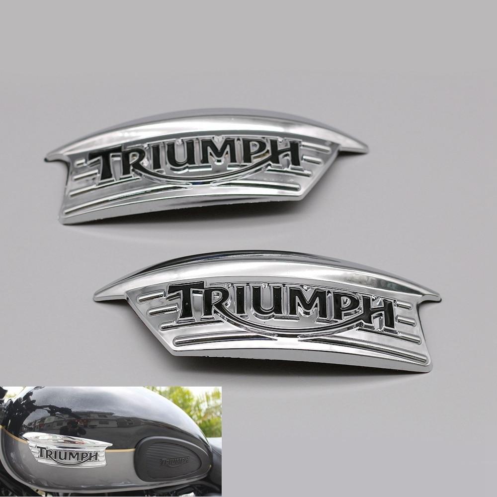 Мотоцикл 3D ABS Ретро Бензобак эмблема топливный знак письмо наклейка стикер для Triumph 750 T100 T120