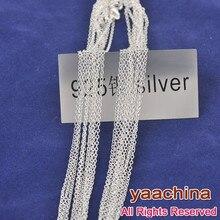¡Envío gratis! Collar de plata de ley 925 de 20 pulgadas O collar de plata 925 cadenas de plata joyería de plata 925 collares de cadena de nuevo plata