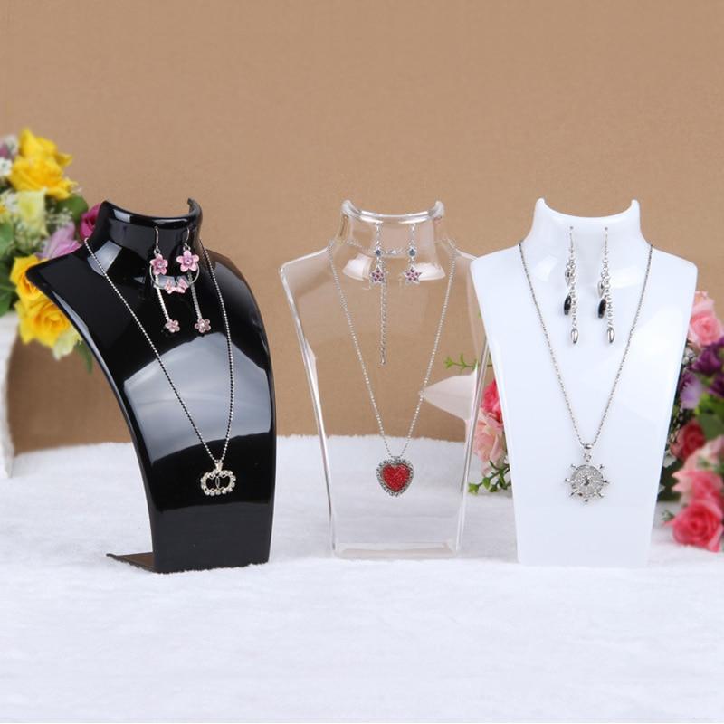 Подставка-манекен для ювелирных украшений, ожерелье, подвеска-дисплей, держатель, декорирование ювелирных украшений, полка, 3 цвета, 20*13,5*7,3 с...