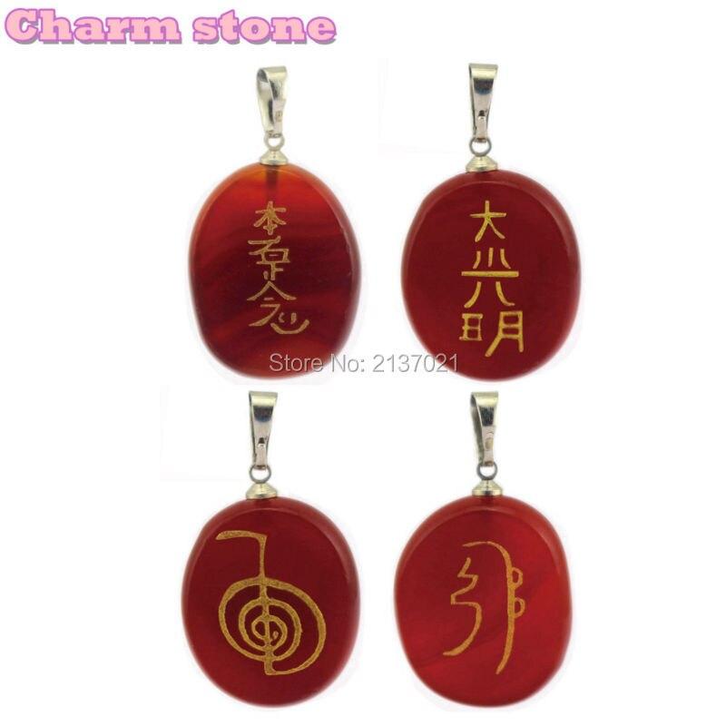 Atural cornalina cristal Vermelho pingente de colar de moda decorar Oriental religião budista Japonês Personalizado de jóias