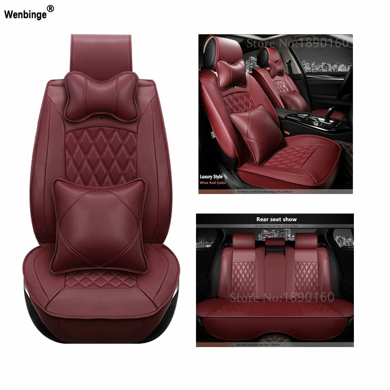 Universal PU Leder auto sitzbezüge Für Fiat Uno Palio Linea Punto Bravo 500 Panda SUV auto zubehör auto styling 3D Leder